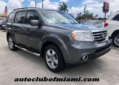 2012 Honda Pilot for sale at AUTO CLUB OF MIAMI, INC in Miami FL