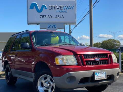 2003 Ford Explorer Sport for sale at Driveway Motors in Virginia Beach VA