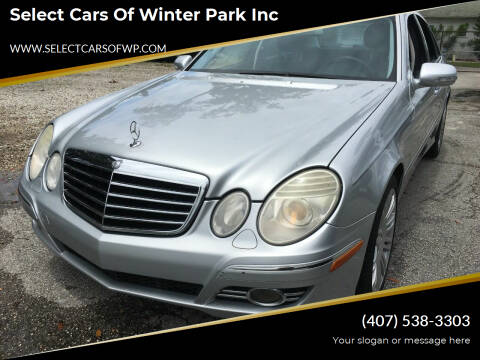 2008 Mercedes-Benz E-Class for sale at Select Cars Of Winter Park Inc in Orlando FL