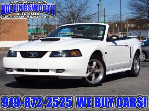 2002 Ford Mustang for sale at Hollingsworth Auto Sales in Raleigh NC