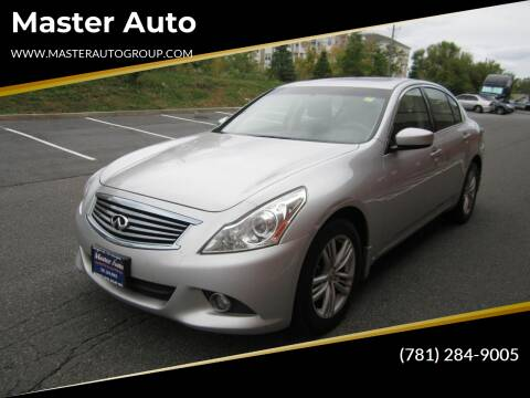 2013 Infiniti G37 Sedan for sale at Master Auto in Revere MA