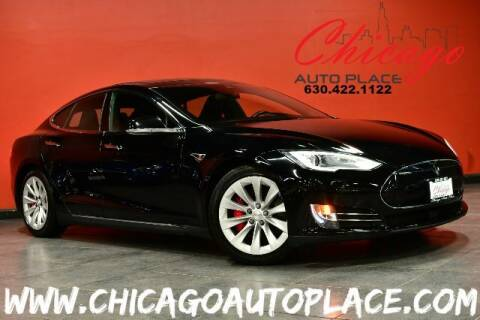 2014 Tesla Model S for sale at Chicago Auto Place in Bensenville IL
