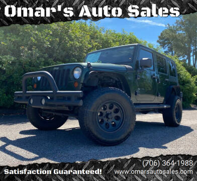 2008 Jeep Wrangler Unlimited for sale at Omar's Auto Sales in Martinez GA