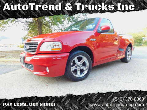 2001 Ford F-150 SVT Lightning for sale at AutoTrend & Trucks Inc in Fredericksburg VA