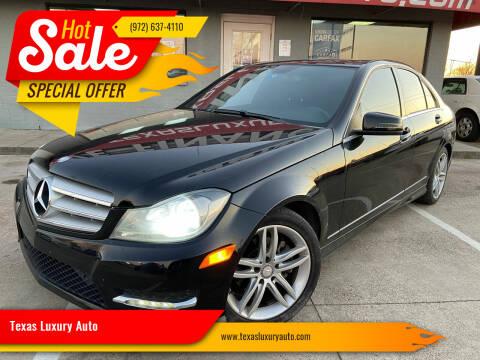 2013 Mercedes-Benz C-Class for sale at Texas Luxury Auto in Cedar Hill TX