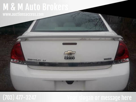 2009 Chevrolet Impala for sale at M & M Auto Brokers in Chantilly VA