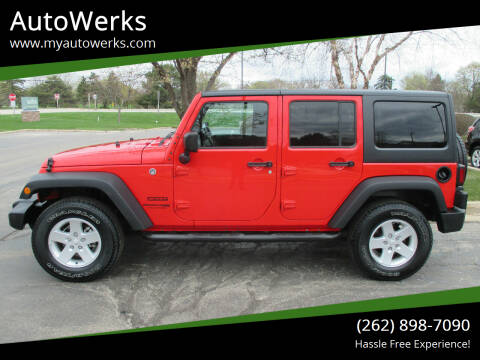 2018 Jeep Wrangler JK Unlimited for sale at AutoWerks in Sturtevant WI