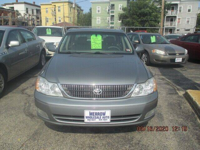 2002 Toyota Avalon for sale at MERROW WHOLESALE AUTO in Manchester NH
