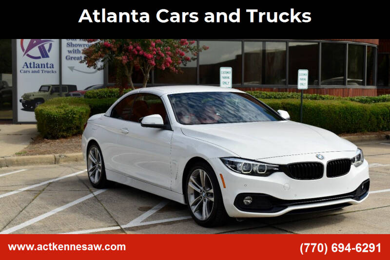 2018 BMW 4 Series for sale at Atlanta Cars and Trucks in Kennesaw GA