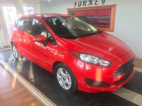 2015 Ford Fiesta for sale at Forkey Auto & Trailer Sales in La Fargeville NY
