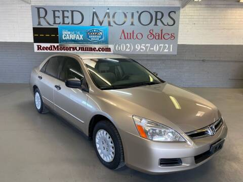 2007 Honda Accord for sale at REED MOTORS LLC in Phoenix AZ