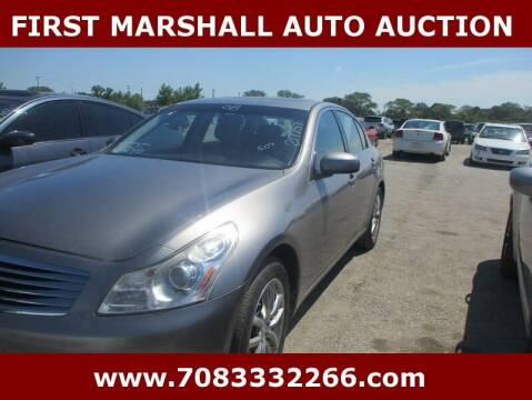 2008 Infiniti G35 for sale at First Marshall Auto Auction in Harvey IL