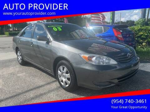2003 Toyota Camry for sale at AUTO PROVIDER in Fort Lauderdale FL