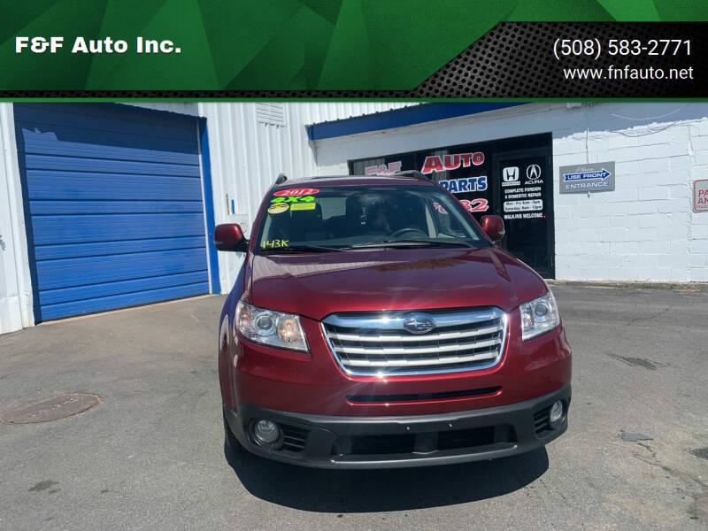 2012 Subaru Tribeca for sale at F&F Auto Inc. in West Bridgewater MA