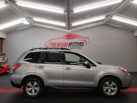 2015 Subaru Forester for sale at Premium Motors in Villa Park IL