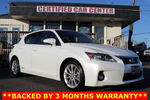 2013 Lexus CT 200h for sale at CERTIFIED CAR CENTER in Fairfax VA