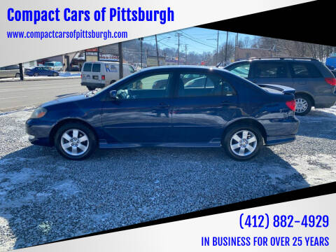 2005 Toyota Corolla for sale at Compact Cars of Pittsburgh in Pittsburgh PA
