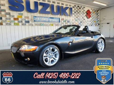 2003 BMW Z4 for sale at BROOKS BIDDLE AUTOMOTIVE in Bothell WA