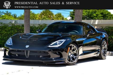 2014 Dodge SRT Viper for sale at Presidential Auto  Sales & Service in Delray Beach FL