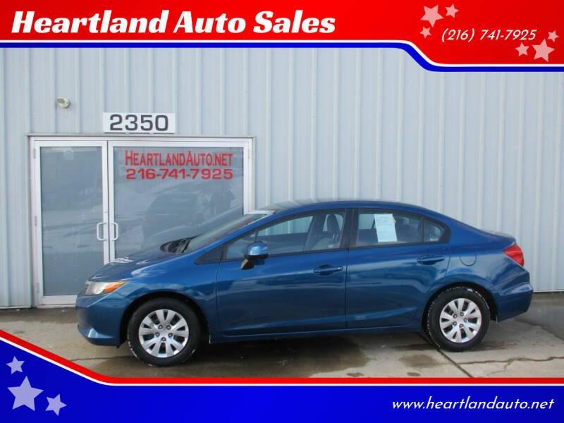 2012 Honda Civic for sale at Heartland Auto Sales in Medina OH
