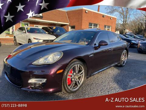 2010 Porsche Panamera for sale at A-Z Auto Sales in Newport News VA