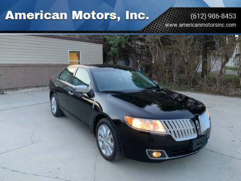 2012 Lincoln MKZ for sale at American Motors, Inc. in Farmington MN