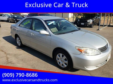 2003 Toyota Camry for sale at Exclusive Car & Truck in Yucaipa CA