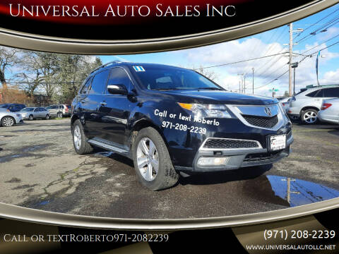 2011 Acura MDX for sale at Universal Auto Sales Inc in Salem OR