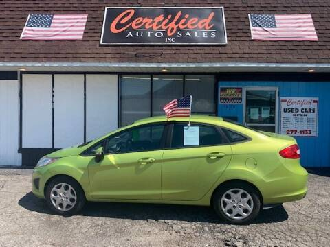 2013 Ford Fiesta for sale at Certified Auto Sales, Inc in Lorain OH