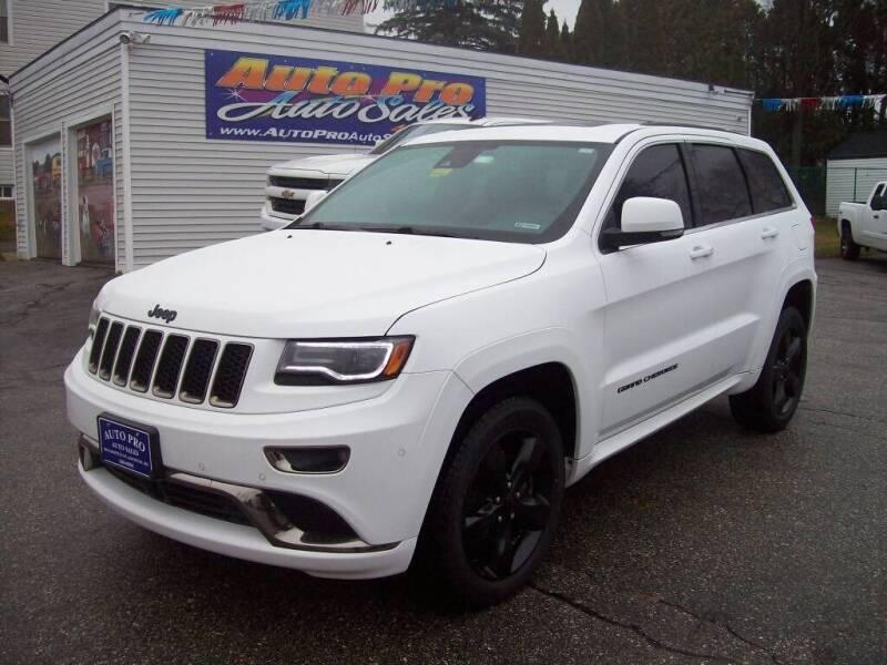 2016 Jeep Grand Cherokee for sale at Auto Pro Auto Sales in Lewiston ME
