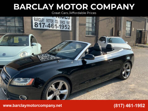 2010 Audi A5 for sale at BARCLAY MOTOR COMPANY in Arlington TX