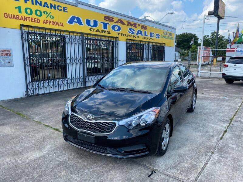 2016 Kia Forte for sale at Sam's Auto Sales in Houston TX