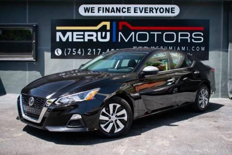 2020 Nissan Altima for sale at Meru Motors in Hollywood FL