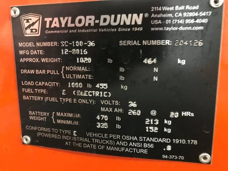 2017 Taylor-Dunn SC-100-36  - Reedsville WI