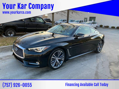 2017 Infiniti Q60 for sale at Your Kar Company in Norfolk VA