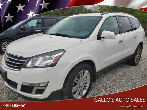 2015 Chevrolet Traverse for sale at Gallo's Auto Sales in North Bloomfield OH