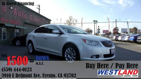 2013 Buick LaCrosse for sale at Westland Auto Sales in Fresno CA