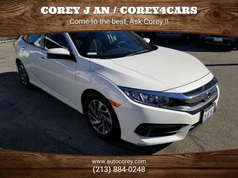 2017 Honda Civic for sale at WWW.COREY4CARS.COM / COREY J AN in Los Angeles CA