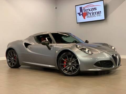 2018 Alfa Romeo 4C for sale at Texas Prime Motors in Houston TX
