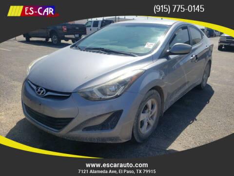 2015 Hyundai Elantra for sale at Escar Auto in El Paso TX