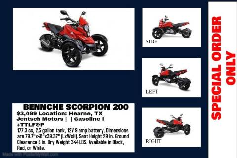 2020 BENNCHE SCORPION 200 for sale at JENTSCH MOTORS in Hearne TX
