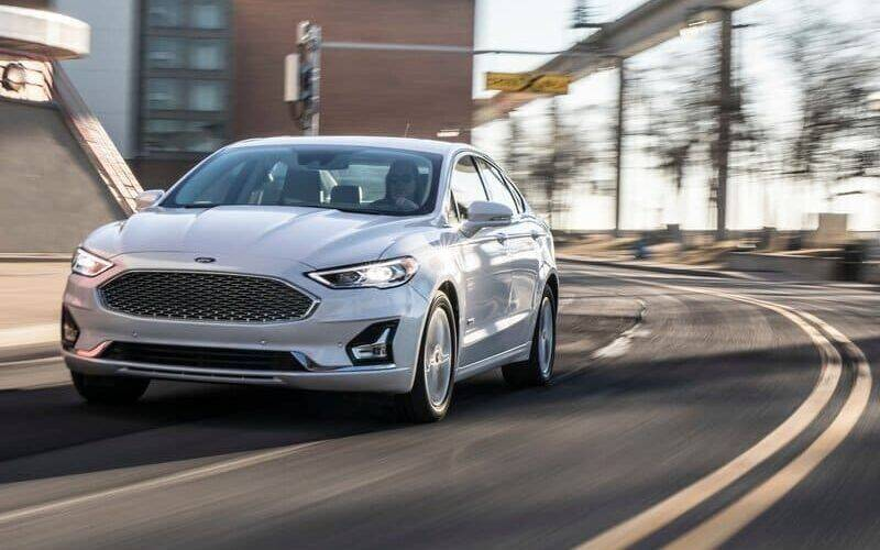 2019 Ford Fusion Hybrid for sale at Econo Auto Sales Inc in Raleigh NC