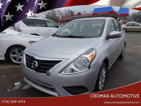 2016 Nissan Versa for sale at Cromax Automotive in Ann Arbor MI
