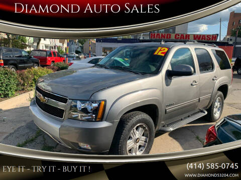 2012 Chevrolet Tahoe for sale at Diamond Auto Sales in Milwaukee WI