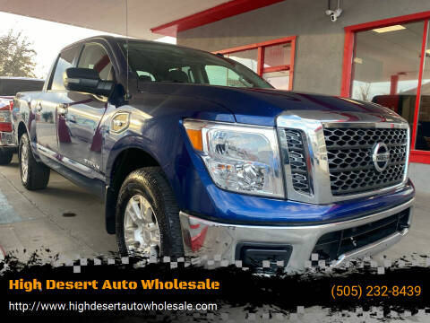 2017 Nissan Titan for sale at High Desert Auto Wholesale in Albuquerque NM