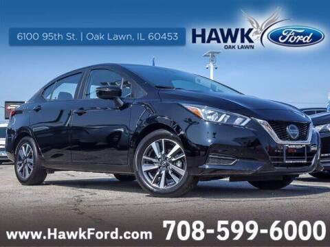 2021 Nissan Versa for sale at Hawk Ford of Oak Lawn in Oak Lawn IL