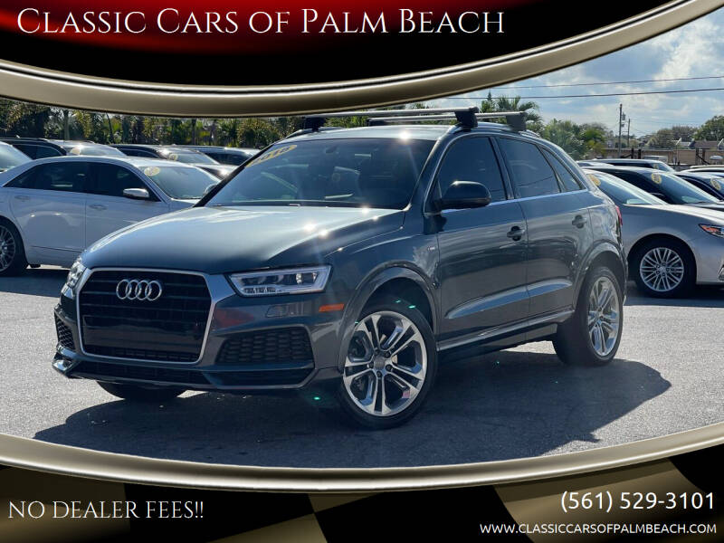 2018 Audi Q3 for sale at Classic Cars of Palm Beach in Jupiter FL