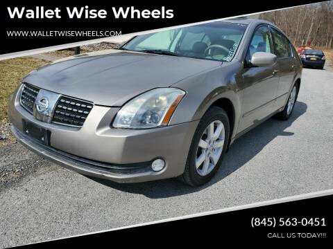 2004 Nissan Maxima for sale at Wallet Wise Wheels in Montgomery NY