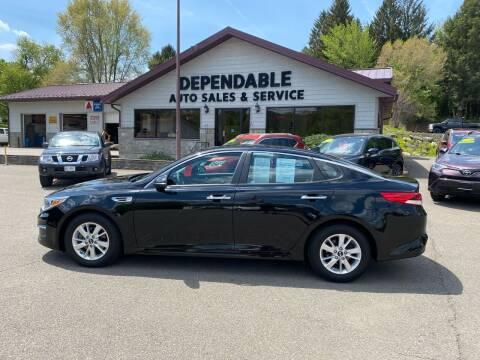 2016 Kia Optima for sale at Dependable Auto Sales and Service in Binghamton NY