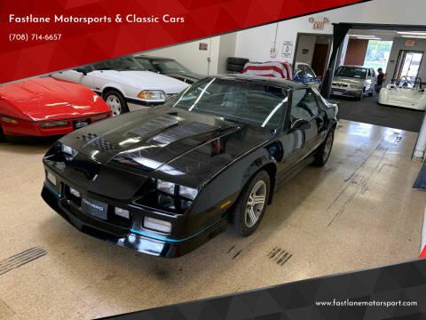 1989 Chevrolet Camaro for sale at Fastlane Motorsports & Classic Cars in Addison IL